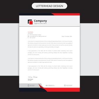 Moderne firma briefkopf design vorlage
