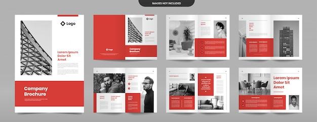 Moderne firmenbroschüre seiten designvorlage