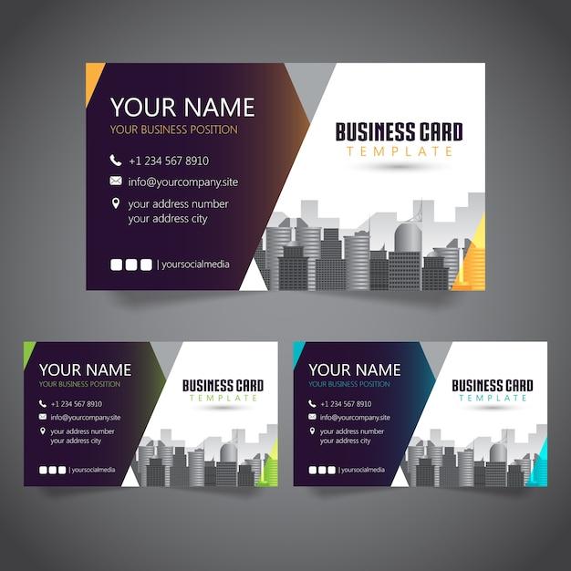 Moderne firmenkundenkarte