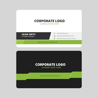 Moderne firmenvisitenkarte