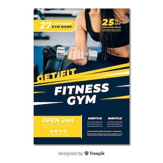 Moderne fitness-flyer-vorlage