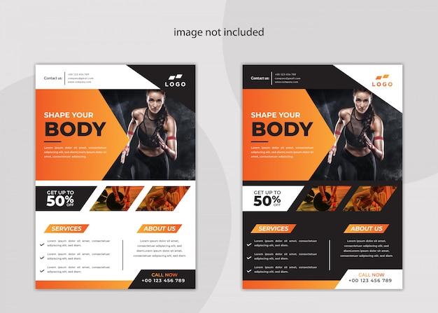 Moderne fitness- und sport-flyer-vorlage
