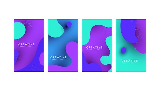 Moderne flüssige verkaufsbanner für social-media-geschichten minimaler trendiger stil