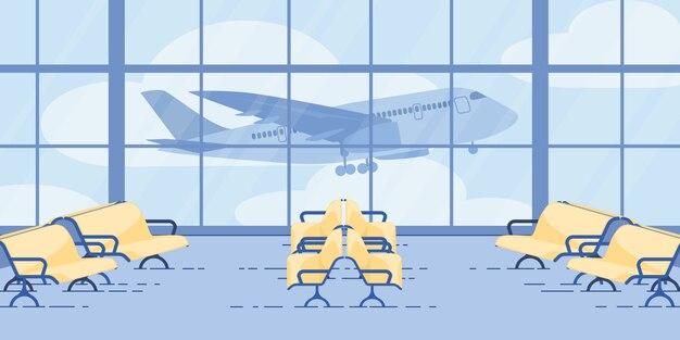 Moderne flughafen-warteflugzone