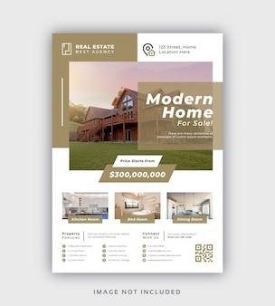 Moderne flyer-vorlage für immobilien