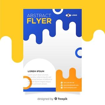 Moderne flyer vorlage mit abstrakten design