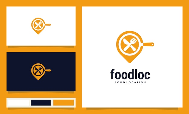 Moderne food location logo design inspiration