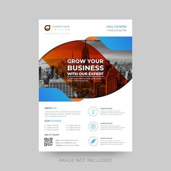 Moderne form business flyer vorlage