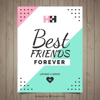 Moderne freundschaftskarte
