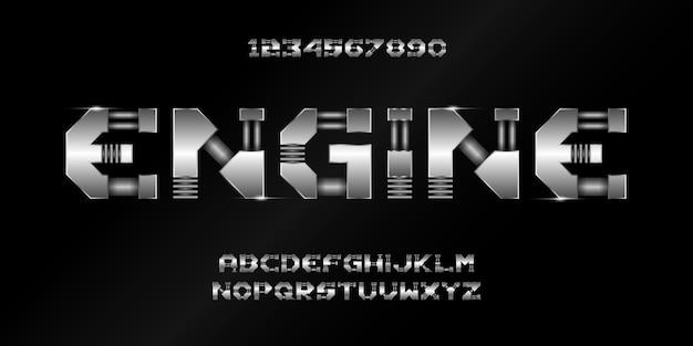 Moderne futuristische alphabetschrift. typografie urban style schriftart