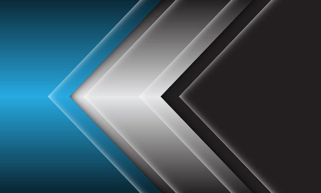 Moderne futuristische hintergrundvektorillustration des abstrakten schwarzen grauen roten pfeilrichtungsentwurfs.