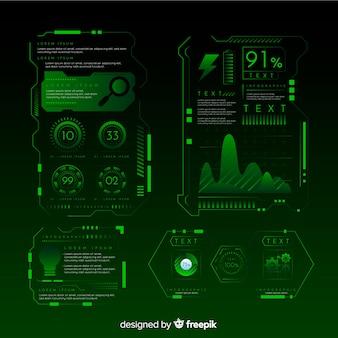 Moderne futuristische infographik elementsammlung