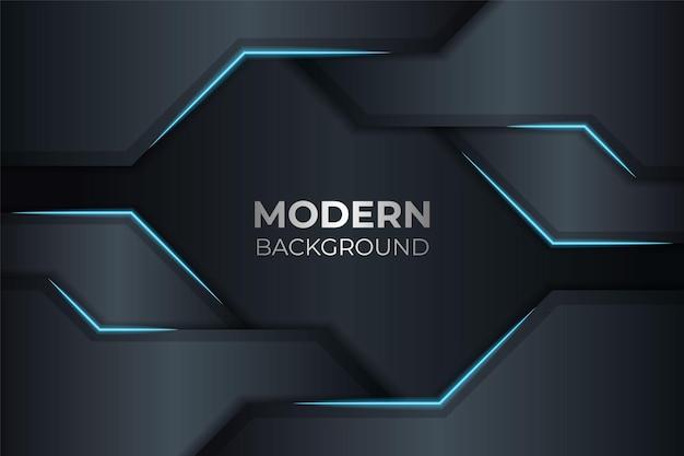 Moderne futuristische technologie geometrisches elegantes blau im marinehintergrund