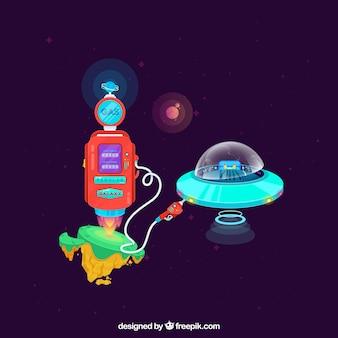 Moderne galaktische komposition