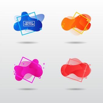 Moderne geometrische bunte abstrakte formen festgelegt
