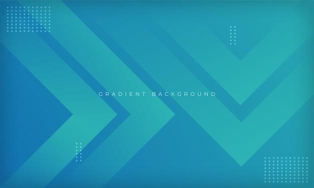 Moderne geometrische designvorlage des blauen farbverlaufs dynamischer hintergrund