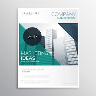 Moderne geschäftsjahresbericht flyer broschüre faltblatt-vorlage