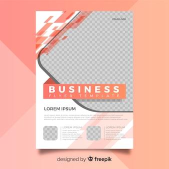 Moderne Geschäftsfliegerschablone mit abstraktem Design