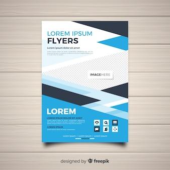 Moderne Geschäftsfliegerschablone mit flachem Design