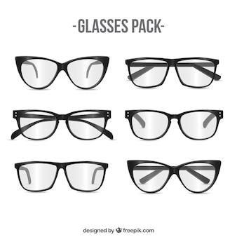 Moderne gläser packen