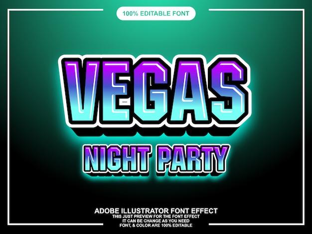 Moderne glow mutige editierbare typografie grafikstil