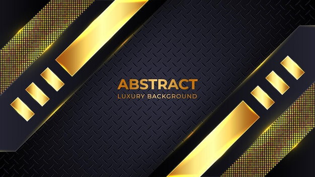 Moderne goldene luxushintergrundschablone mit geometrischen formen