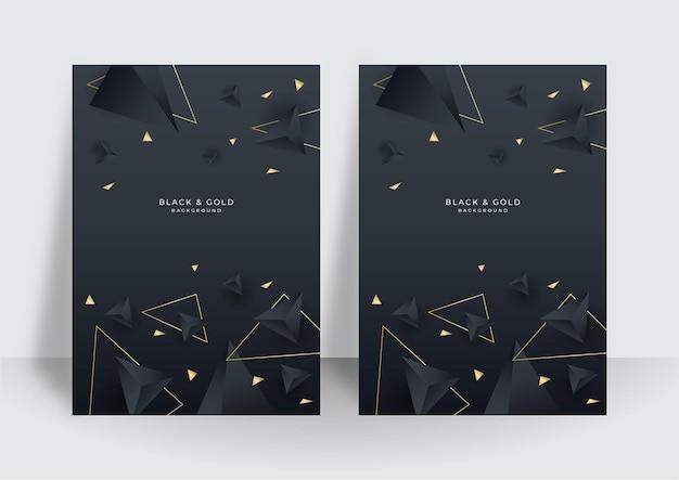 Moderne goldene und schwarze luxus-cover-hintergrund-design-vorlage für unternehmen. vektordesign für notebook-cover, geschäftsplakat, broschürenvorlage, zeitschriftenlayout