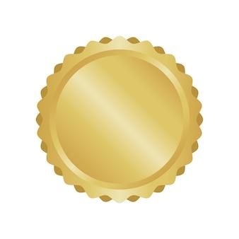Moderne goldkreis-metallabzeichen, etiketten und designelemente. vektor-illustration.
