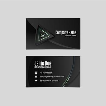 Moderne gradienten-design-vorlage der visitenkarte