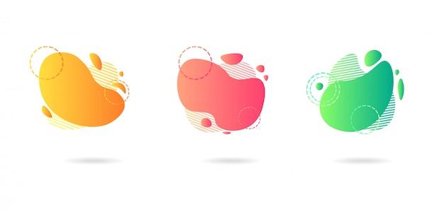 Moderne grafische elemente des abstrakten gradienten.
