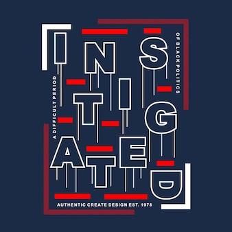 Moderne grafische typografie für t-shirt design