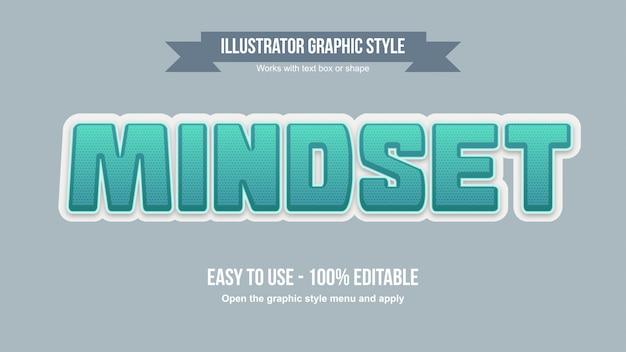 Moderne grün gepunktete großbuchstaben 3d bearbeitbare cartoon-typografie