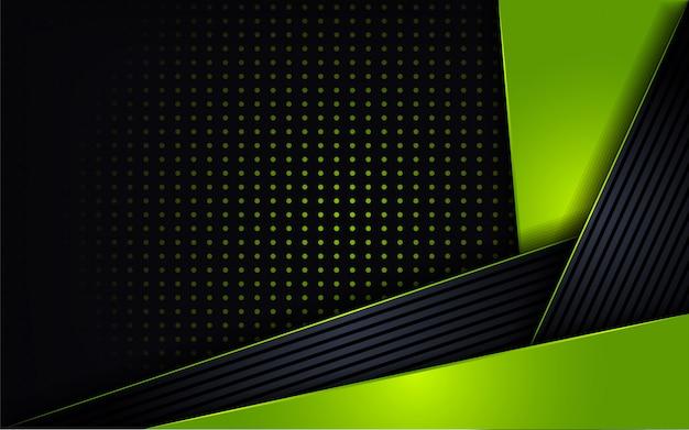 Moderne grüne kombinieren glanzpunktform