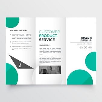 Moderne grüne punkte trifold broschüre