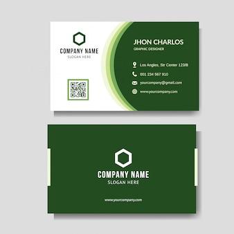Moderne grüne visitenkarte