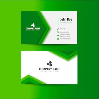 Moderne grüne visitenkarteschablone