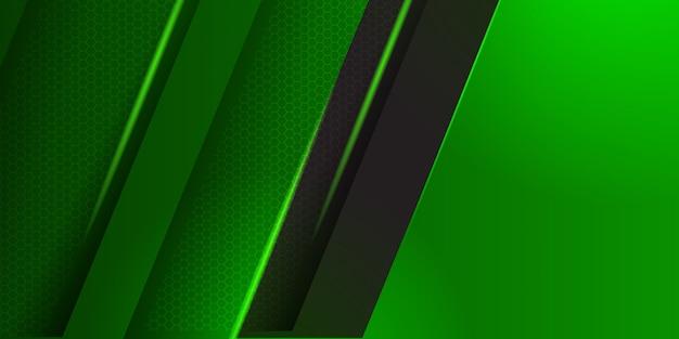 Moderne grüne web-header-zusammenfassung.