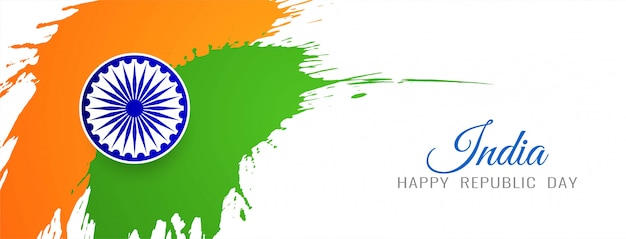 Moderne grungy indische flaggenfahne