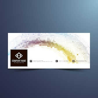 Moderne halftone facebook zeitleiste design