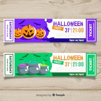 Moderne halloween-tickets