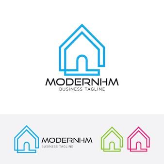Moderne hauptdesignvektor-logoschablone