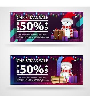 Moderne, helle weihnachtsfahnenschablone mit hellem hintergrund