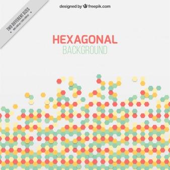 Moderne hexagonal hintergrund