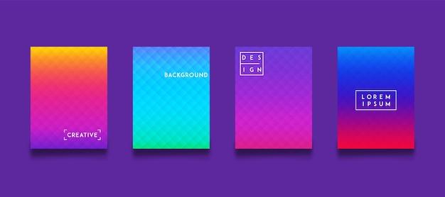 Moderne hintergrund farbverlaufsvorlage set sammlung