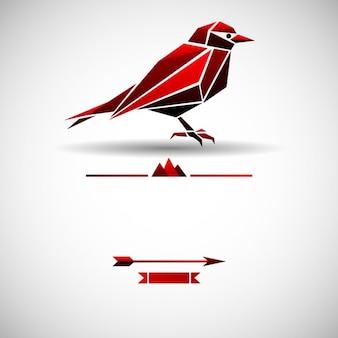 Moderne hintergrund mit dreieck vogel