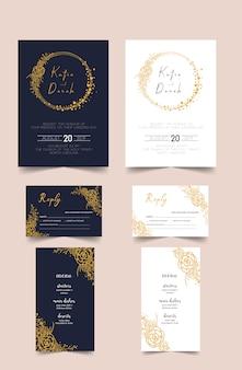 Moderne Hochzeitseinladungskarte