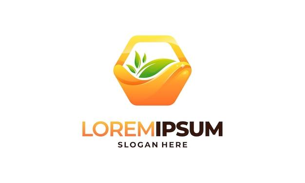 Moderne honigwaben logo template design vektor, emblem, honig-design-konzept, kreatives symbol,