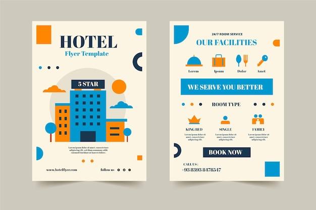 Moderne hotelfliegervorlage