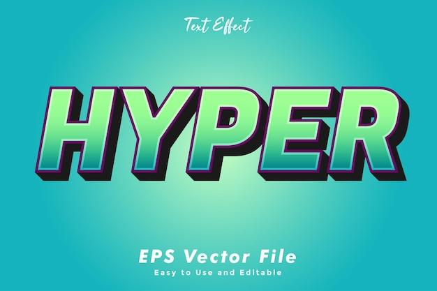 Moderne hyper-text-typografie-effektvorlage