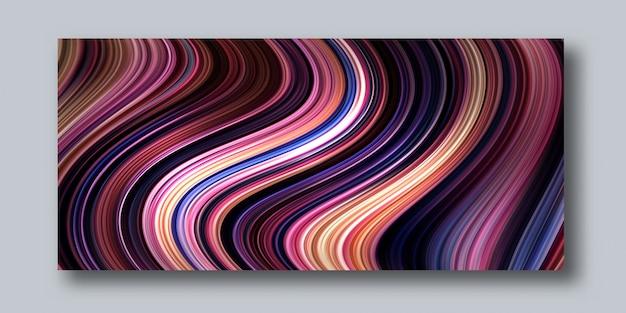 Moderne illustration mit der abstrakten flüssigen bunten linie 3d mit abstraktem entwurf